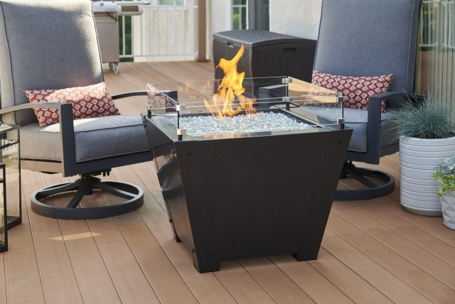 Axel Square Gas Fire Pit Table by The Outdoor GreatRoom Company for your home patio or backyard