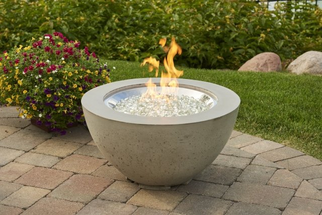 Unique, modern design Cove 20 Gas Fire Pit Bowl by the Outdoor GreatRoom Company for your patio or deck