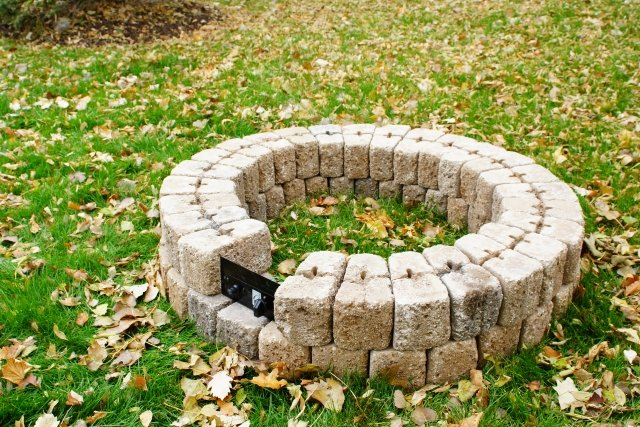 "38"" Round Do-It-Yourself Hardscape Gas Fire Burner Kit Step-by-Step Instructions by The Outdoor GreatRoom Company"