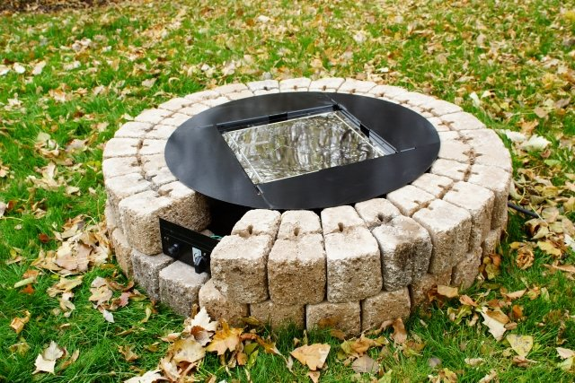 "38"" Round Do-It-Yourself Hardscape Gas Fire Burner Kit by The Outdoor GreatRoom Company step-by-step instructions"