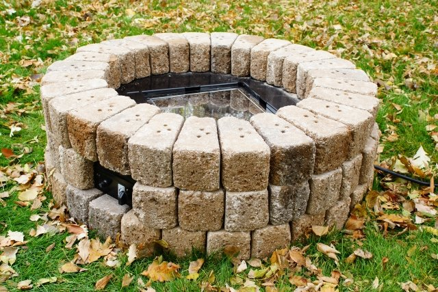 "38"" Round Do-It-Yourself Hardscape Gas Fire Burner Kit Step-by-Step Instructions by The Outdoor GreatRoom Company for your backyard DIY project"