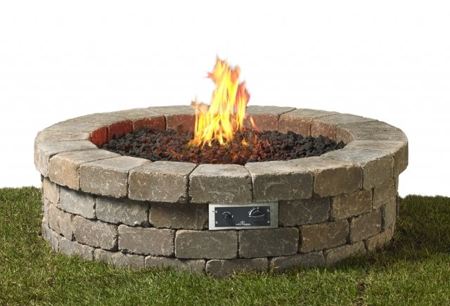 Fresco Circle Firepit Kit  on grass