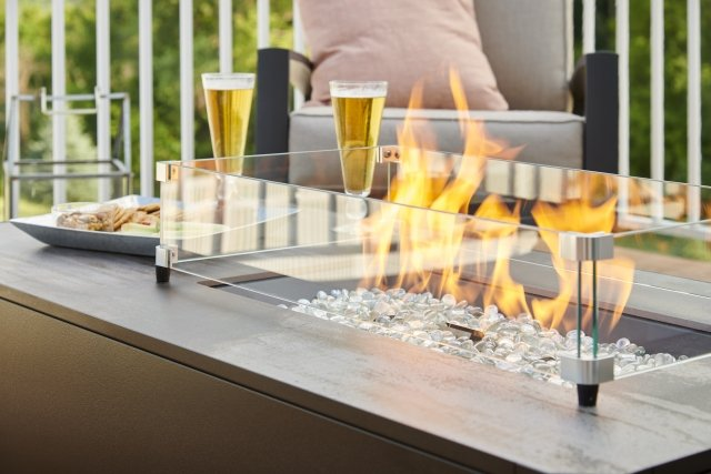 Kinney Gas Fire Pit Table Detail
