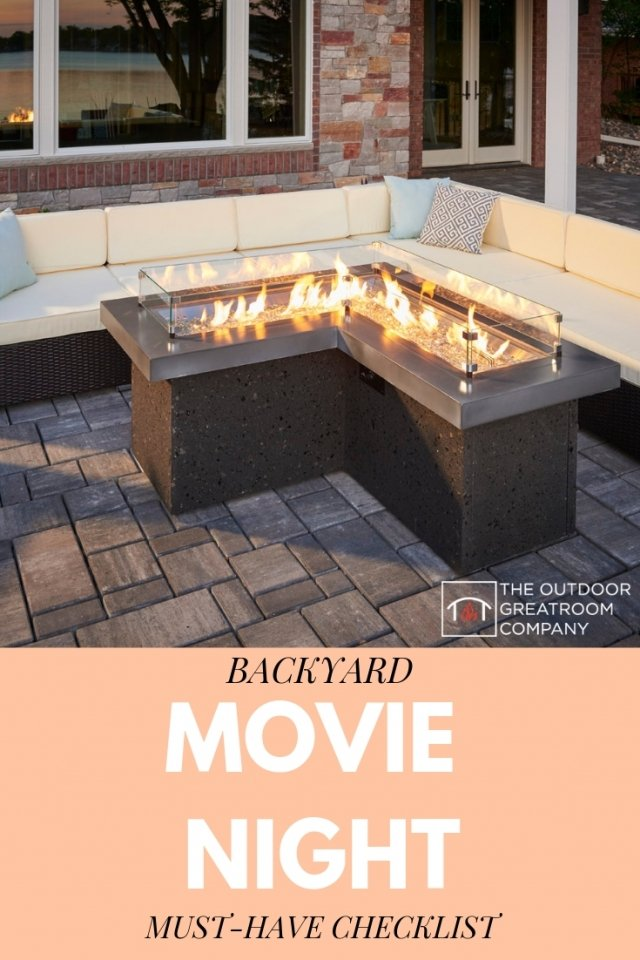 Backyard Movie Night Must-Have Checklist for the best outdoor movie gathering on your patio or in your yard by The Outdoor GreatRoom Company