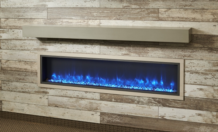 Non Combustible Cove Grey Supercast Modern Mantel The Outdoor Greatroom Company