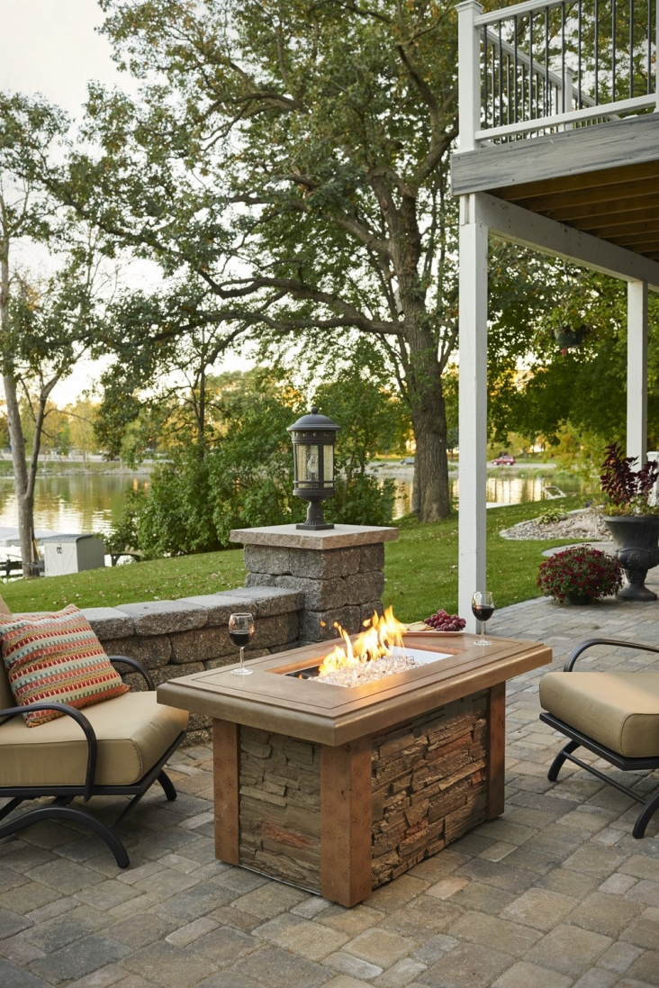 Sierra Linear Gas Fire Pit Table The Outdoor Greatroom