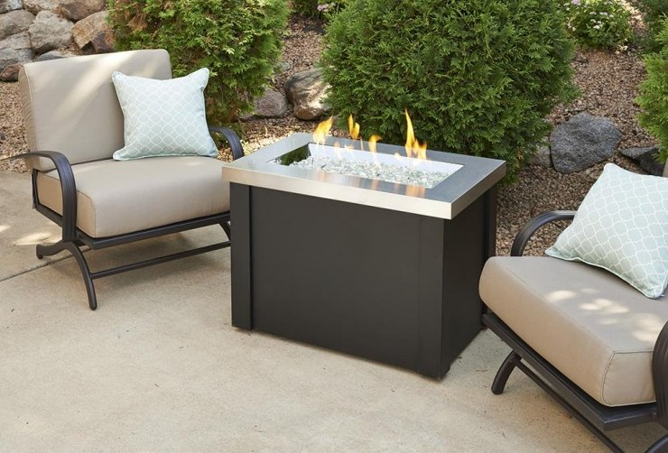 Providence Fire Pit Table Stainless Steel Top