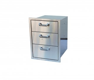 3 Stainless Drawers