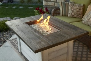 Farmhouse, Shiplap Design Alcott Gas Fire Pit Table By The Outdoor  GreatRoom Company For Your