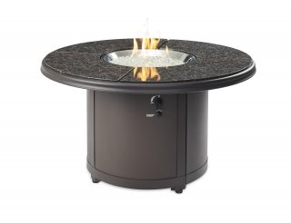 Stylish, unique design Brown Granite Beacon Gas Fire Pit Table The Outdoor GreatRoom Company for your patio or backyard