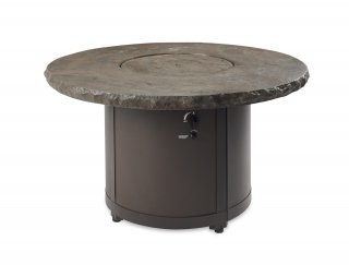 Stunning, stylish design Marbleized Noche Beacon Chat Height Gas Fire Pit Table with Burner Cover by The Outdoor GreatRoom Company for your patio or deck