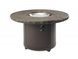 Stunning, stylish design Marbleized Noche Beacon Chat Height Gas Fire Pit Table by The Outdoor GreatRoom Company for your patio or deck