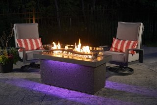 Boreal Complete Heat with Purple LED Lights by The Outdoor GreatRoom Company for heat above and below on your patio or deck