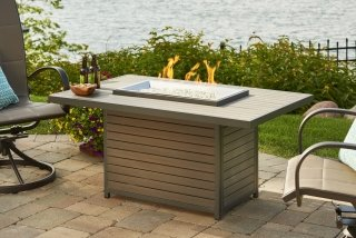 Stylish, Modern Design Brooks Gas Fire Pit Table By The Outdoor GreatRoom  Company For Your