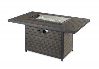 Modern, stylish design Brooks Gas Fire Pit Table flame off by The Outdoor GreatRoom Company for your dream patio or deck