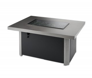 Caden Rectangular Gas Fire Pit Table for your patio or backyard by The Outdoor GreatRoom Company