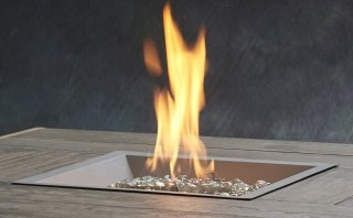 "16""x16"" Pewter Crystal Fire Burner by The Outdoor GreatRoom Company for your DIY backyard or patio project"