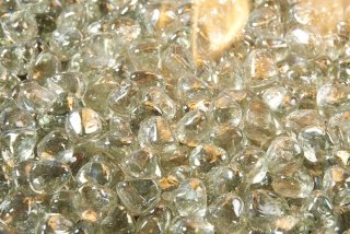 Large Clear Tempered Fired Glass Diamonds