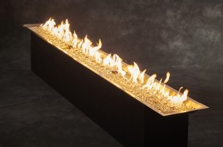 "12"" X 120"" or 10' Crystal Fire Plus Gas Burner for Natural Gas or Liquid Propane by The Outdoor GreatRoom Company for your backyard DIY project or patio landscaping design"
