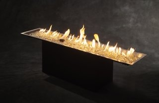 "12"" X 64"" Crystal Fire Plus Gas Burner for Natural Gas or Liquid Propane by The Outdoor GreatRoom Company for your backyard DIY project or patio landscaping design"