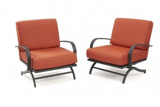 Deep seating, comfy design Papaya Chat Chairs by The Outdoor GreatRoom Company for your deck or backyard