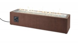 Modern, low-profile design Cortlin Gas Fire Pit Table by The Outdoor GreatRoom Company for your patio or deck