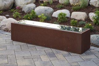 "12"" x 64"" Grey Glass Burner Cover for Cortlin Linear Gas Fire Pit Table by The Outdoor GreatRoom Company"