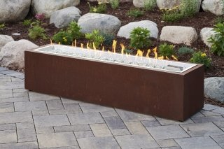 Modern, trendy design Cortlin Linear Gas Fire Pit Table The Outdoor GreatRoom Company for your dream patio or deck