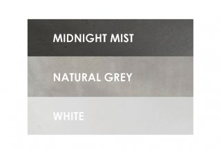 Color options for Cove Collection: Midnight Mist, Natural Grey, and White