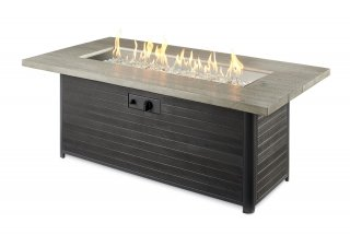 industrial, farmhouse outdoor style Cedar Ridge Gas Fire Pit Table by The Outdoor GreatRoom Company for your patio or backyard