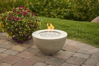 Unique, modern design Cove 12 Gas Fire Pit Bowl by the Outdoor GreatRoom Company for your deck or patio