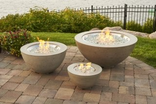 Unique, modern design Cove Collection Gas Fire Pit Bowls by The Outdoor GreatRoom Company for your unique patio or backyard spot