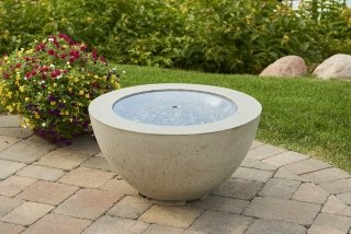 Contemporary, unique design Cove 20 Gas Fire Pit Bowl by the Outdoor GreatRoom Company for your dream backyard or deck