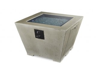Modern, functional design Cove Square Gas Fire Pit Table with Burner Cover by The Outdoor GreatRoom Company for your patio party or backyard gathering