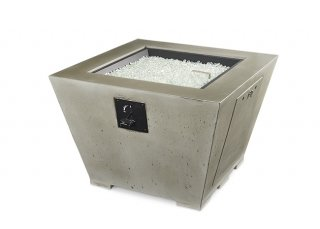 Modern, unique look Cove Square Gas Fire Pit Table by The Outdoor GreatRoom Company for your patio design or backyard ideas