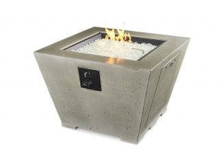 Contemporary, unique style Cove Square Gas Fire Pit Table by The Outdoor GreatRoom Company for your dream modern patio or deck