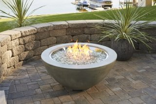 Contemporary, beautiful design Cove 30 Gas Fire Pit Bowl by the Outdoor GreatRoom Company for your patio or backyard