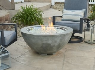 Natural Grey Cove 42 Round Gas Fire Pit Bowl The Outdoor Greatroom Company