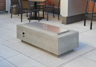 "Cove 54"" Linear Gas Fire Pit with Stainless Steel Burner Cover"