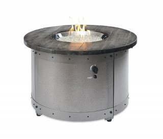 Modern, industrial design Edison Gas Fire Pit Table by The Outdoor GreatRoom Company for your patio or backyard