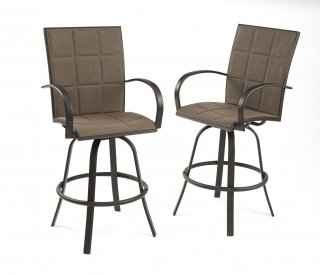 Stylish, easy to care for Empire Bar Stools by The Outdoor GreatRoom Company for your patio or deck