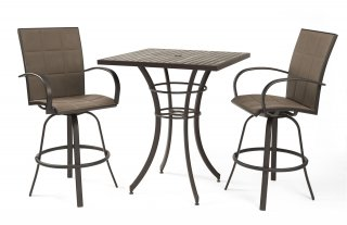 Stylish, weatherproof design Empire Bar Stools by The Outdoor GreatRoom Company for your patio or deck