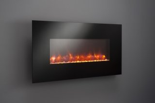 Linear Wall Mount Electric Fireplace No LED