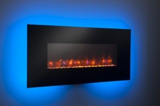 "58"" Linear wall mount Electric Fireplace with Blue LED"
