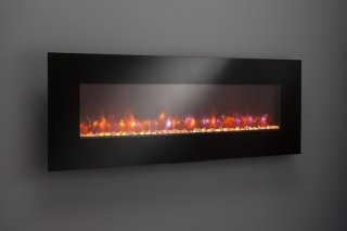 "70"" Linear wall mount electric Fireplace NO LED"