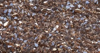 Copper Crushed Tempered Fire Glass
