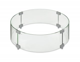 "25"" Round Glass Wind Guard for your gas fire pit bowl or individual gas burner by The Outdoor GreatRoom Company"
