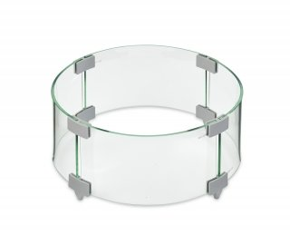 "12"" Round Glass Wind Guard for your gas fire pit table or gas burner by The Outdoor GreatRoom Company"