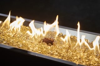 Detailed Flame Photo of Crystal Fire Plus Gas Burner for Natural Gas or Liquid Propane by The Outdoor GreatRoom Company for your backyard DIY project or patio landscaping design