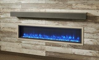 Non Combustible Polished Midnight Mist Supercast Modern Mantel